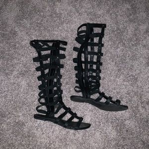 Shoes - Caged Sandals